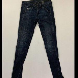G-Star Women's Blue Custom Mid Skinny Jeans Sz 25